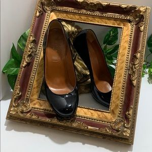 Gucci Heels 💯% Authentic Black Patent Leather